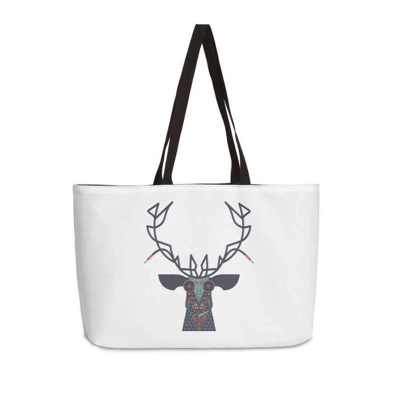 DJ Deer Accessories Weekender Bag Bag by Tony Bamber's Artist Shop