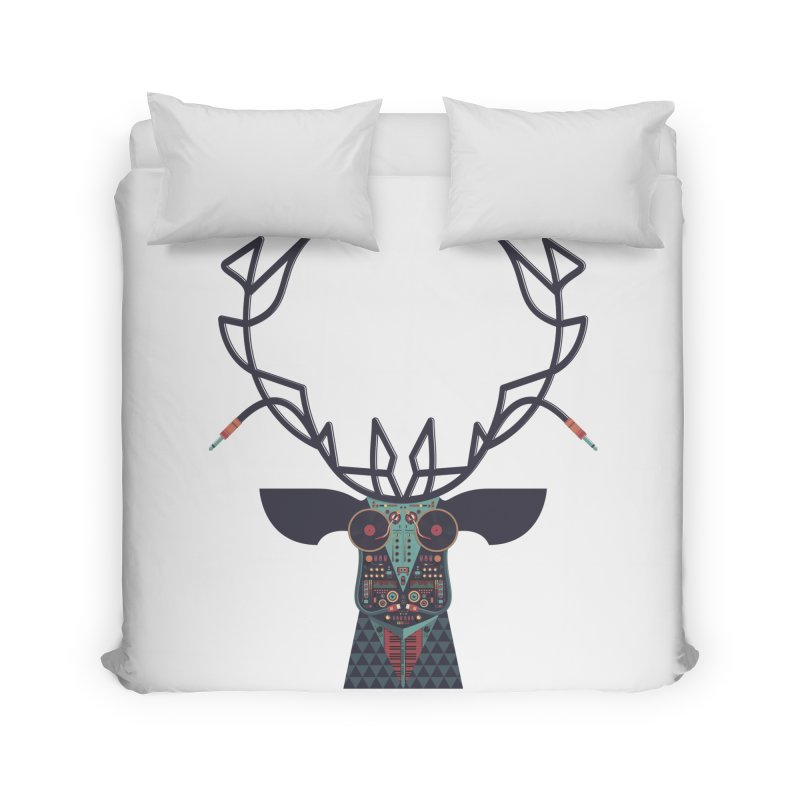 DJ Deer Home Duvet by Tony Bamber's Artist Shop