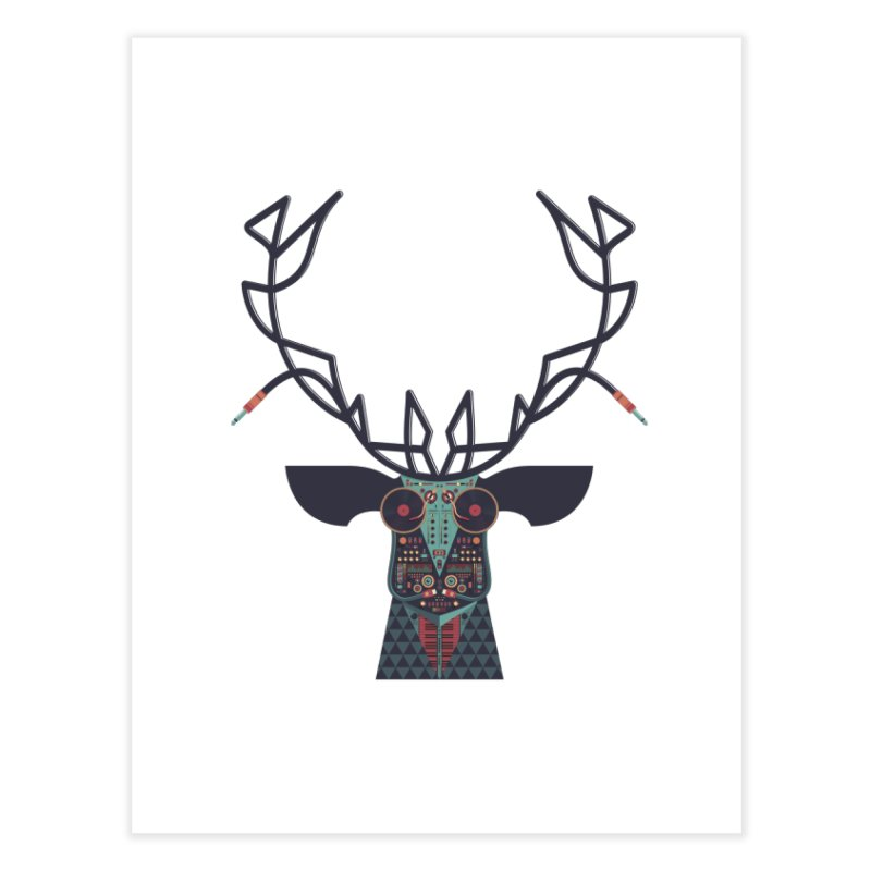 DJ Deer Home Fine Art Print by Tony Bamber's Artist Shop