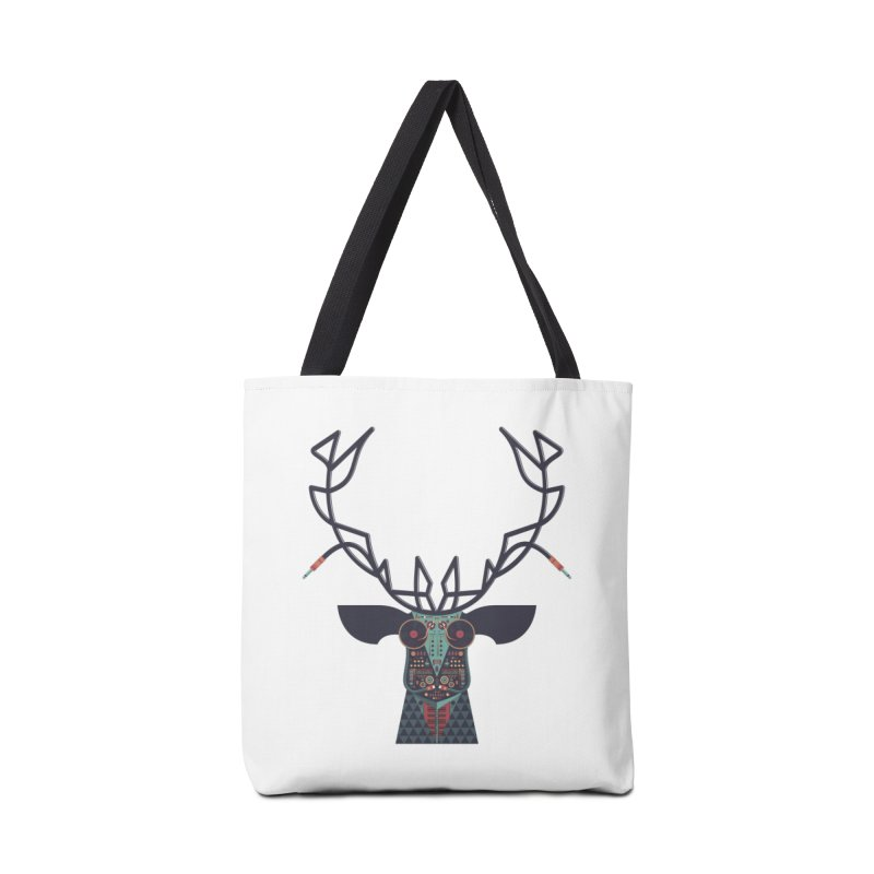 DJ Deer Accessories Tote Bag Bag by Tony Bamber's Artist Shop