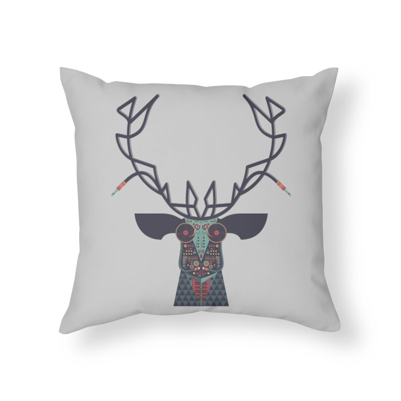 DJ Deer Home Throw Pillow by Tony Bamber's Shop