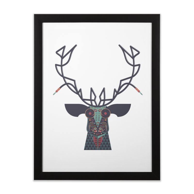 DJ Deer Home Framed Fine Art Print by Tony Bamber's Artist Shop
