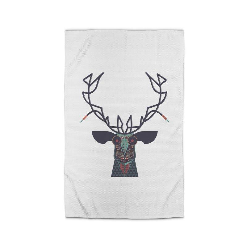 DJ Deer Home Rug by Tony Bamber's Artist Shop