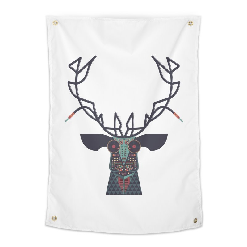 DJ Deer Home Tapestry by Tony Bamber's Artist Shop