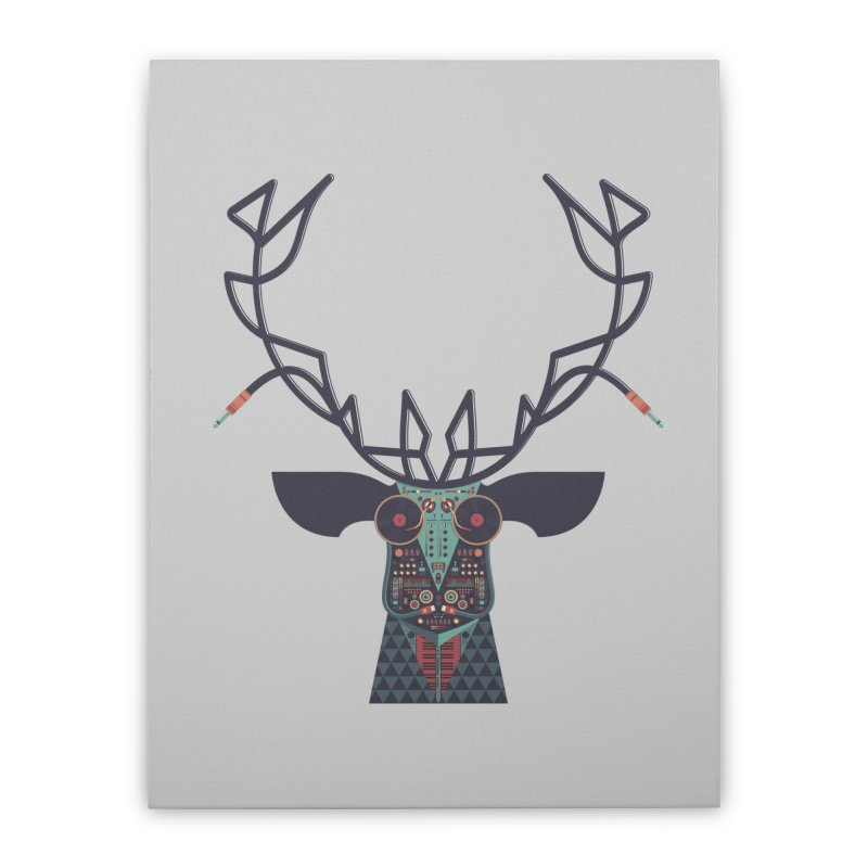 DJ Deer Home Stretched Canvas by Tony Bamber's Shop
