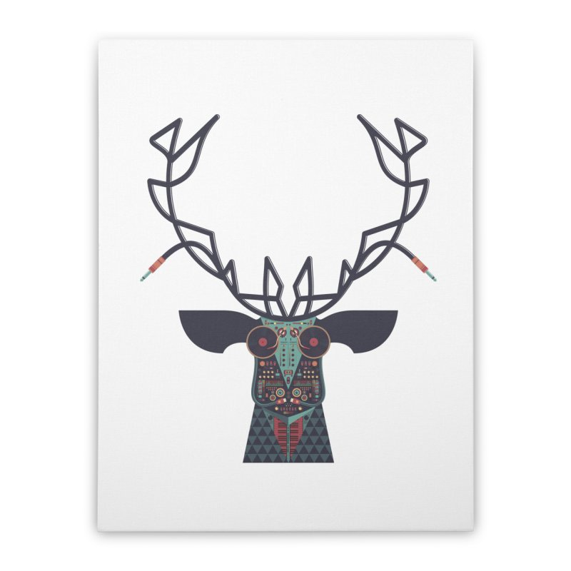 DJ Deer Home Stretched Canvas by Tony Bamber's Artist Shop
