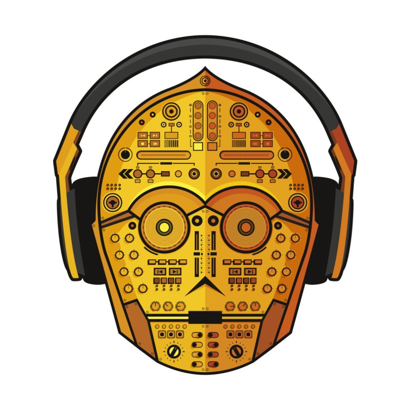 DJ-3PO   by Tony Bamber's Artist Shop
