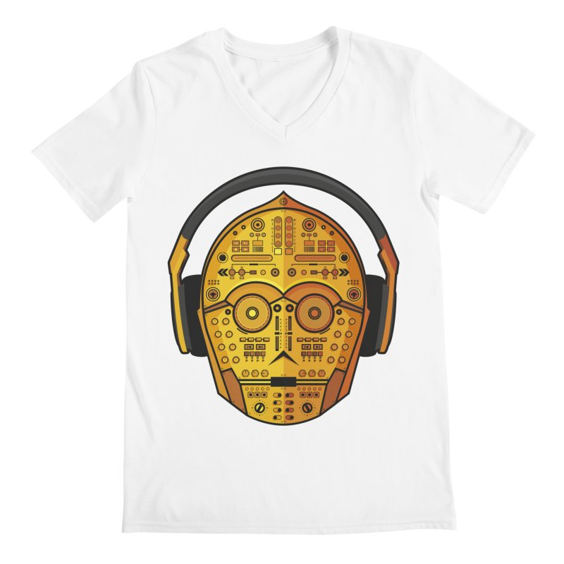 DJ-3PO Men's V-Neck by Tony Bamber's Artist Shop