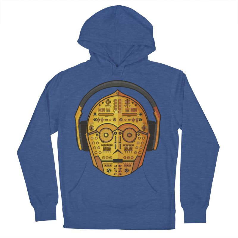DJ-3PO Men's French Terry Pullover Hoody by Tony Bamber's Artist Shop