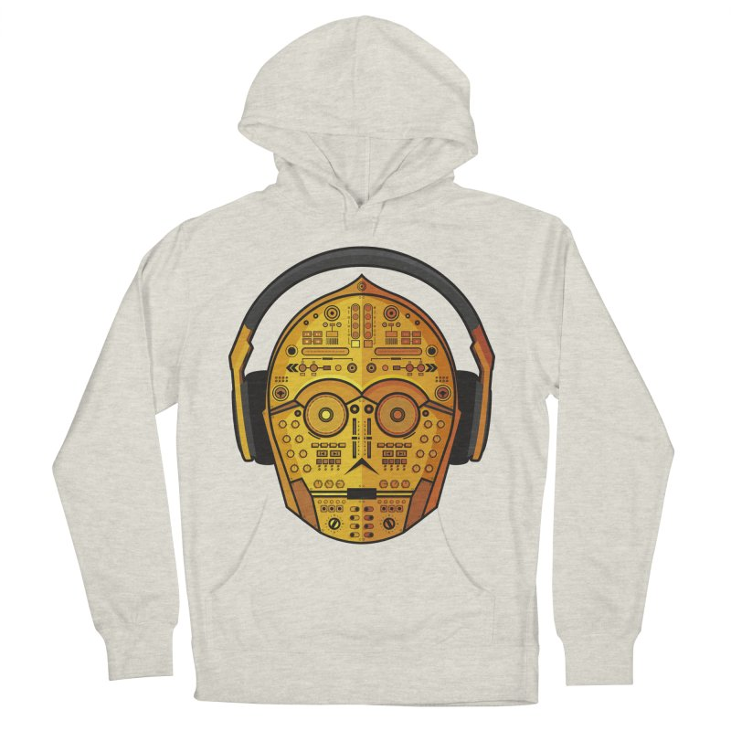 DJ-3PO Men's French Terry Pullover Hoody by Tony Bamber's Shop