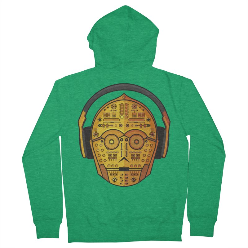 DJ-3PO Women's Zip-Up Hoody by Tony Bamber's Artist Shop