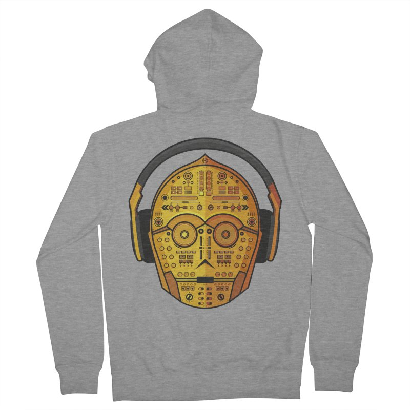 DJ-3PO Women's French Terry Zip-Up Hoody by Tony Bamber's Artist Shop