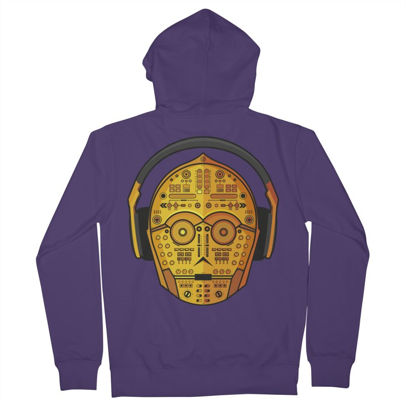 DJ-3PO Women's French Terry Zip-Up Hoody by Tony Bamber's Shop