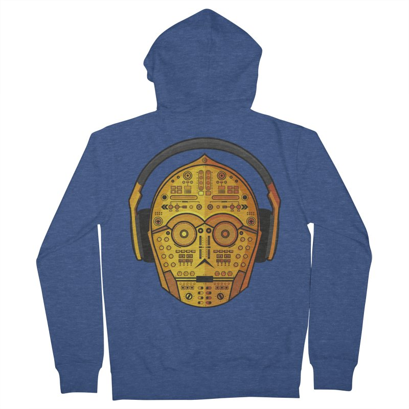 DJ-3PO Men's French Terry Zip-Up Hoody by Tony Bamber's Shop