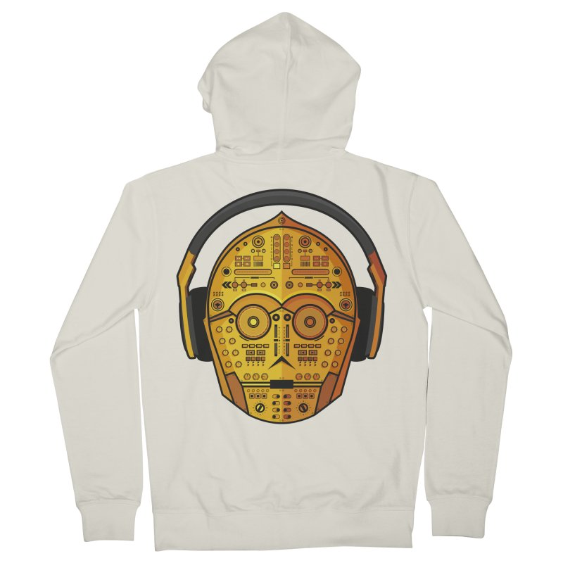 DJ-3PO Men's French Terry Zip-Up Hoody by Tony Bamber's Shop