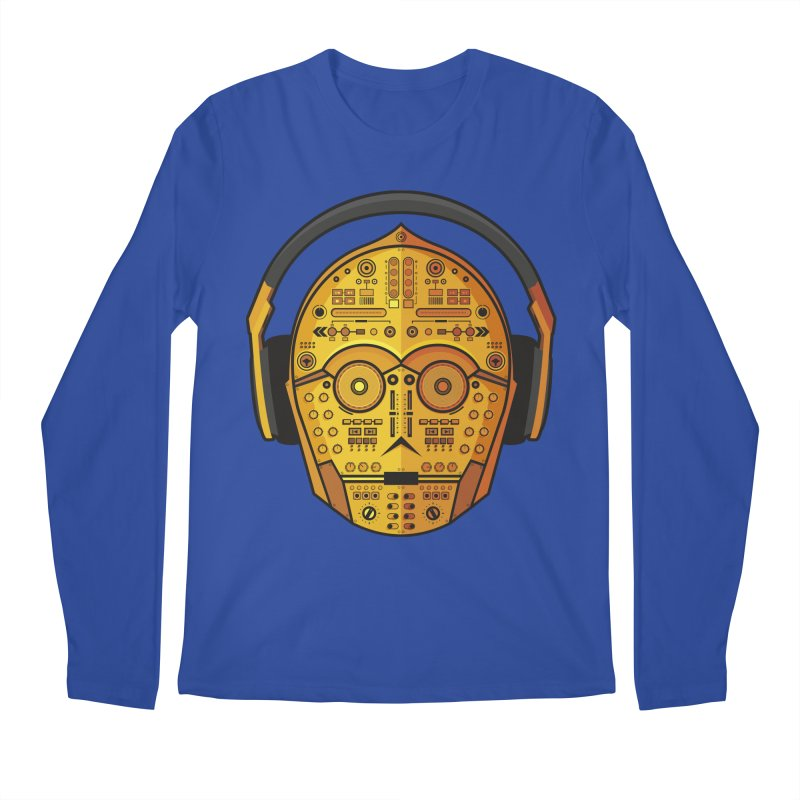 DJ-3PO Men's Longsleeve T-Shirt by Tony Bamber's Artist Shop