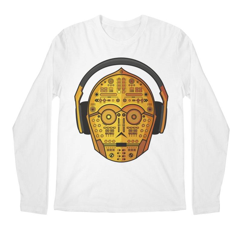 DJ-3PO Men's Regular Longsleeve T-Shirt by Tony Bamber's Artist Shop