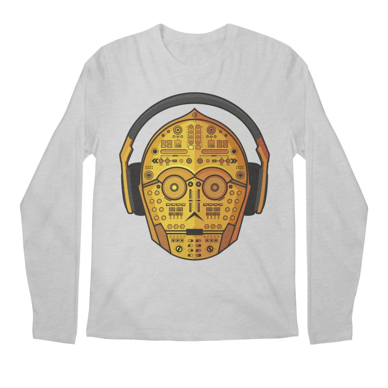 DJ-3PO Men's Regular Longsleeve T-Shirt by Tony Bamber's Artist Shop