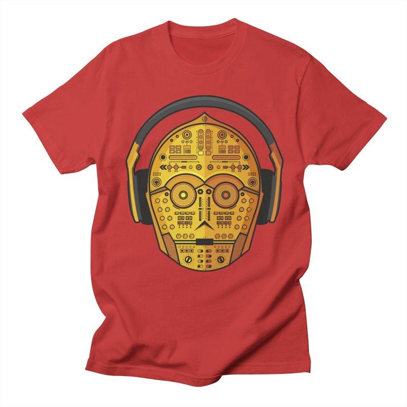 DJ-3PO Men's Regular T-Shirt by Tony Bamber's Artist Shop