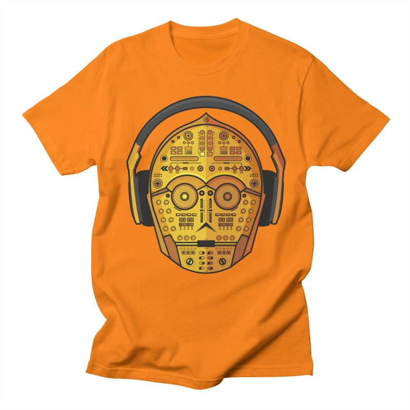 DJ-3PO Men's Regular T-Shirt by Tony Bamber's Artist Shop
