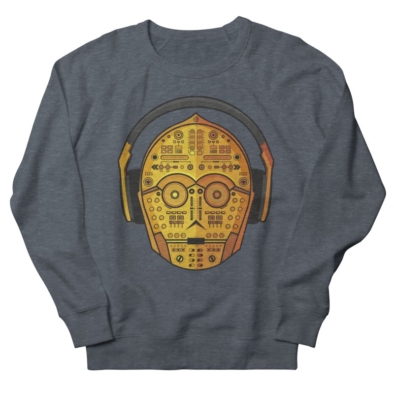 DJ-3PO Women's French Terry Sweatshirt by Tony Bamber's Artist Shop