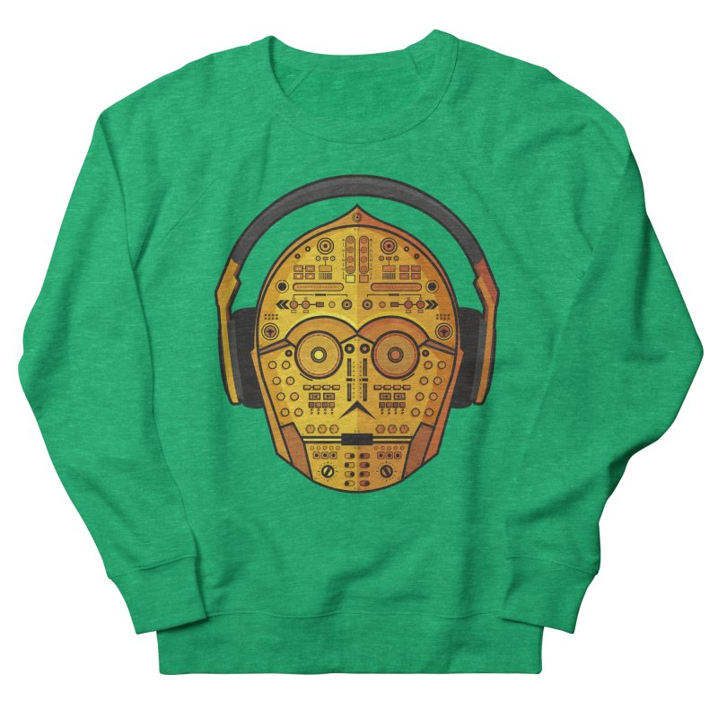DJ-3PO Men's French Terry Sweatshirt by Tony Bamber's Artist Shop