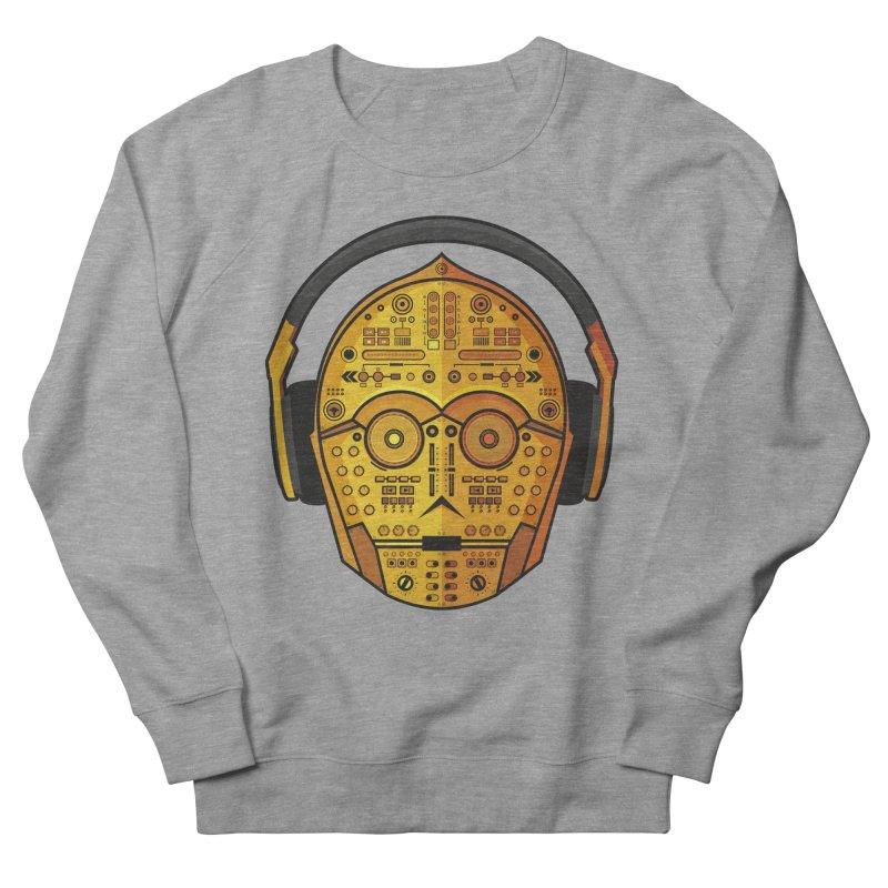 DJ-3PO Men's French Terry Sweatshirt by Tony Bamber's Artist Shop