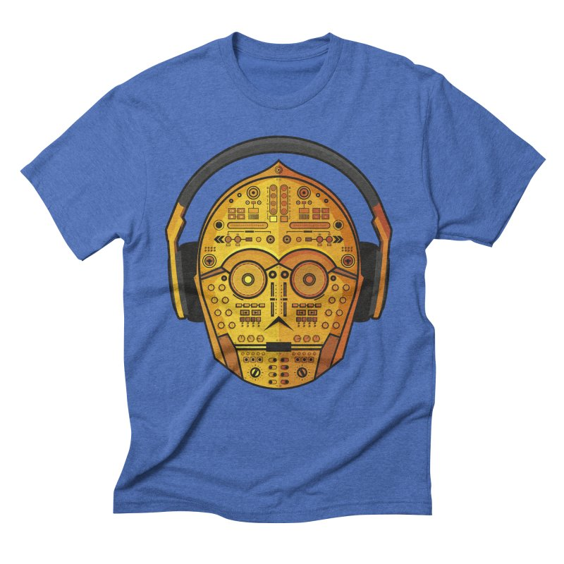 DJ-3PO Men's Triblend T-Shirt by Tony Bamber's Artist Shop