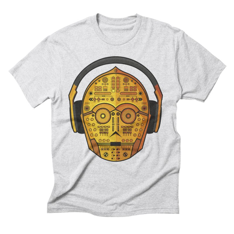 DJ-3PO Men's Triblend T-shirt by Tony Bamber's Artist Shop