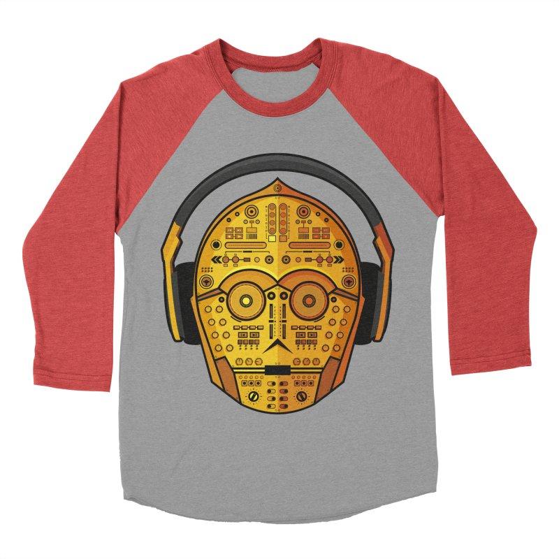 DJ-3PO Women's Baseball Triblend T-Shirt by Tony Bamber's Artist Shop