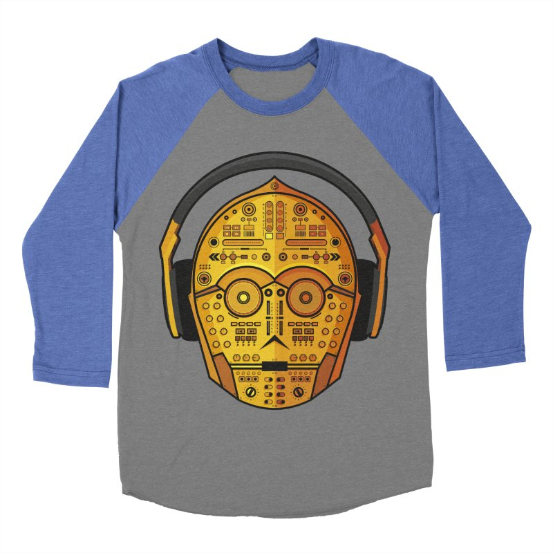 DJ-3PO Men's Baseball Triblend T-Shirt by Tony Bamber's Artist Shop