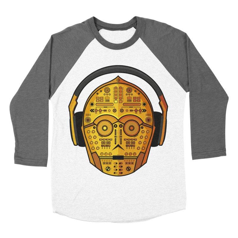 DJ-3PO Men's Baseball Triblend T-Shirt by Tony Bamber's Artist Shop