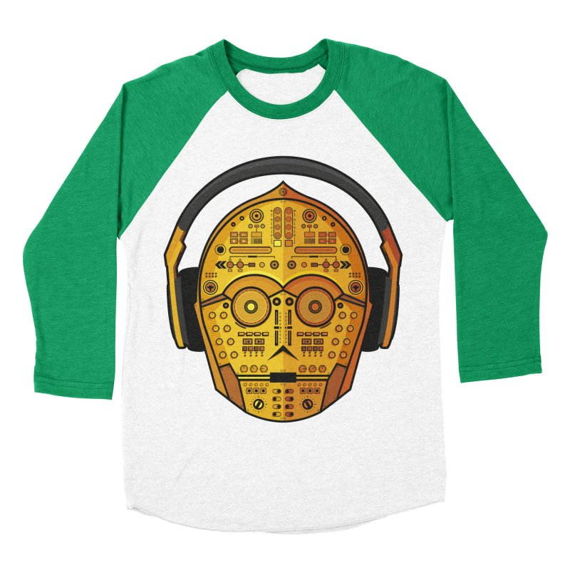 DJ-3PO Men's Baseball Triblend Longsleeve T-Shirt by Tony Bamber's Artist Shop