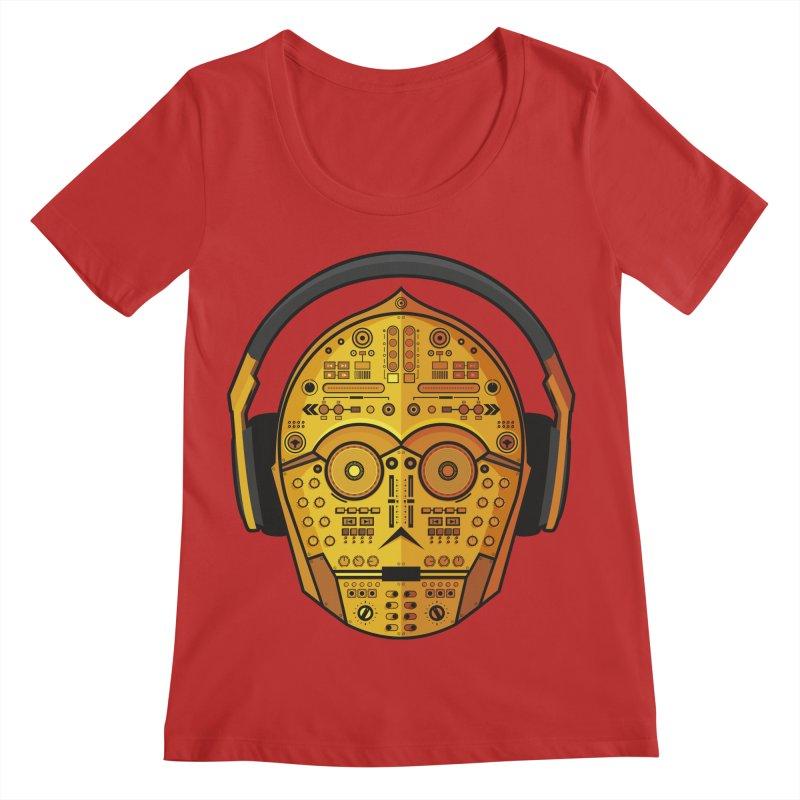 DJ-3PO Women's Regular Scoop Neck by Tony Bamber's Shop