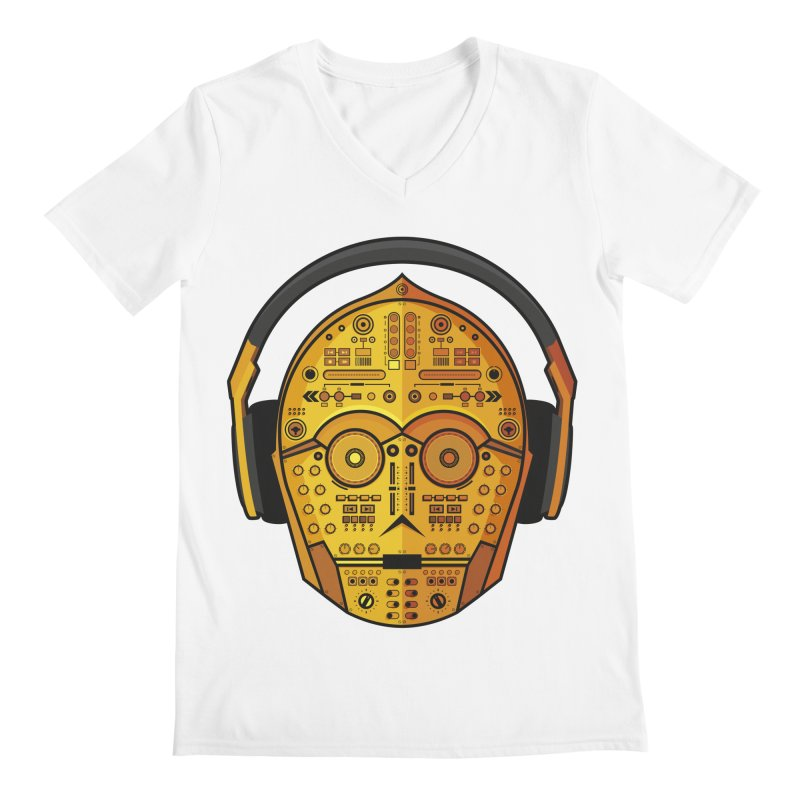 DJ-3PO Men's V-Neck by Tony Bamber's Artist Shop