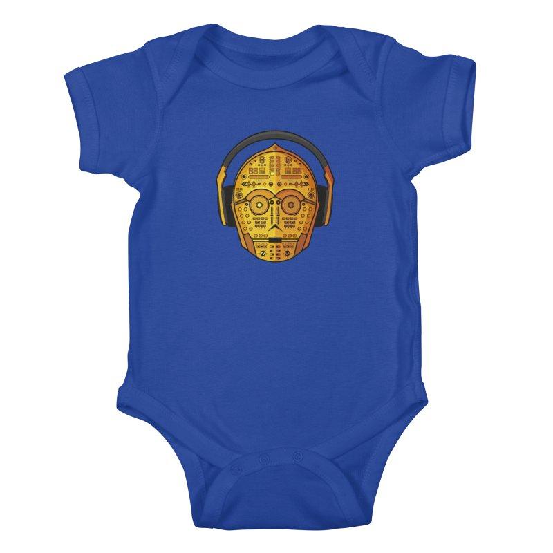 DJ-3PO Kids Baby Bodysuit by Tony Bamber's Artist Shop