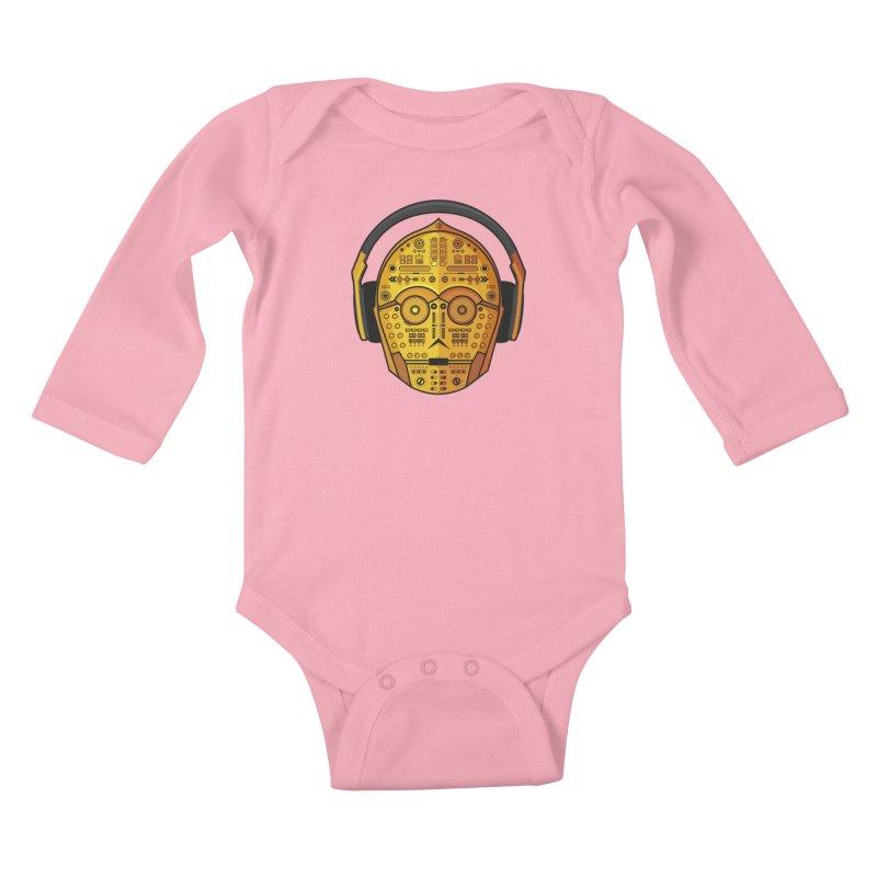 DJ-3PO Kids Baby Longsleeve Bodysuit by Tony Bamber's Artist Shop