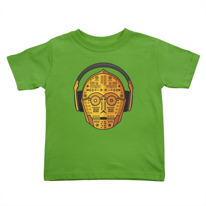 DJ-3PO Kids Toddler T-Shirt by Tony Bamber's Shop