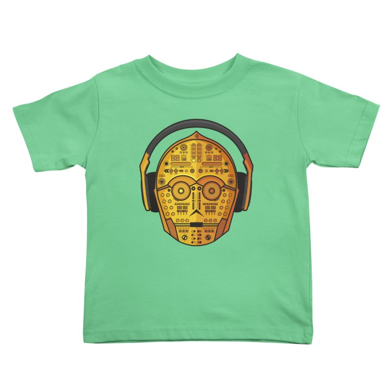 DJ-3PO Kids Toddler T-Shirt by Tony Bamber's Artist Shop