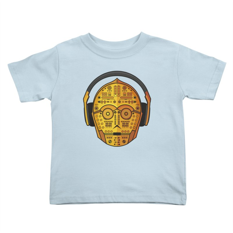 DJ-3PO Kids Toddler T-Shirt by Tony Bamber's Artist Shop