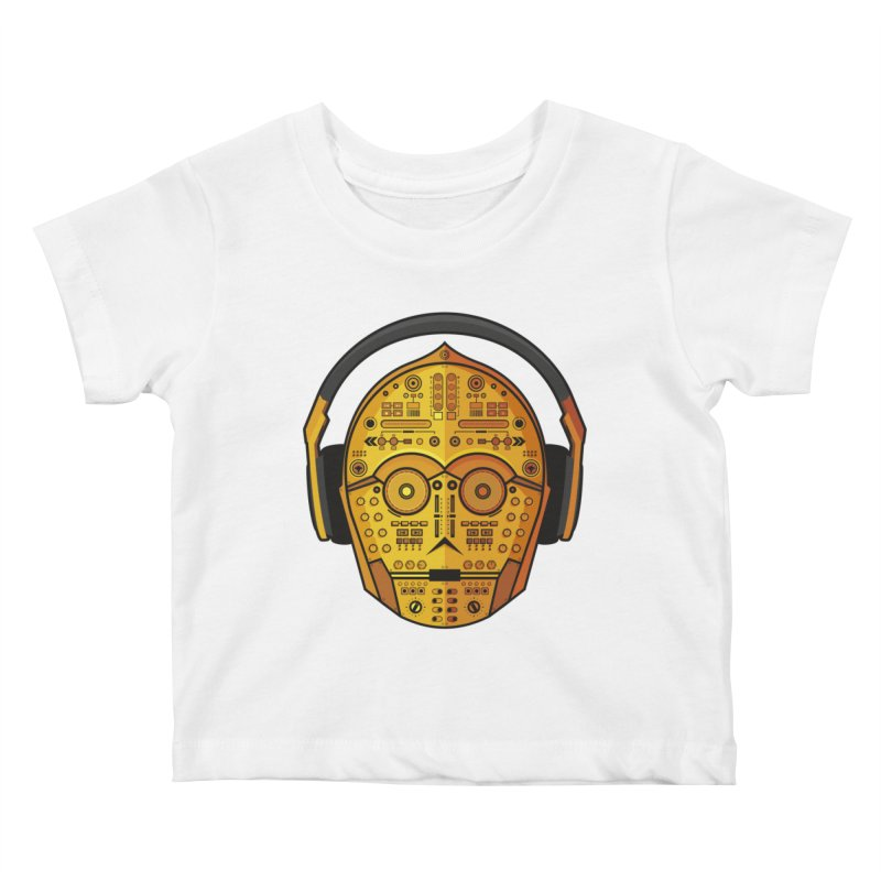 DJ-3PO Kids Baby T-Shirt by Tony Bamber's Artist Shop