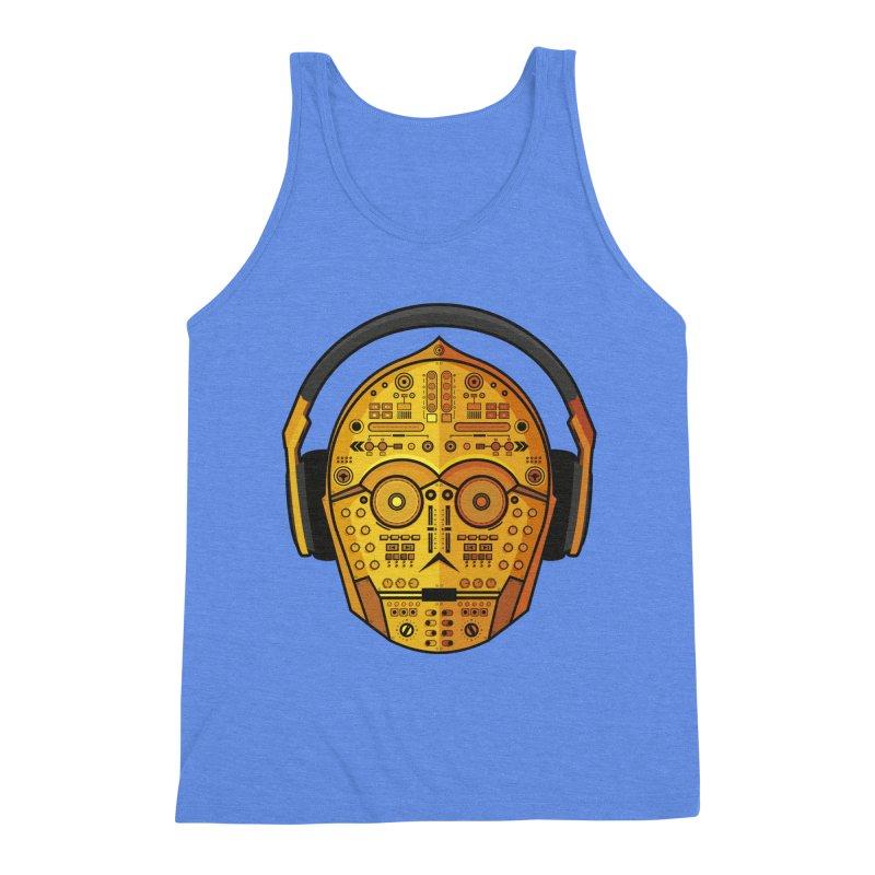 DJ-3PO Men's Triblend Tank by Tony Bamber's Shop