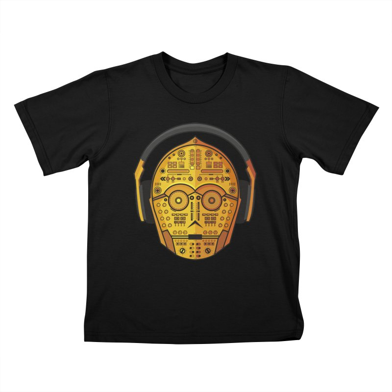 DJ-3PO Kids T-Shirt by Tony Bamber's Artist Shop