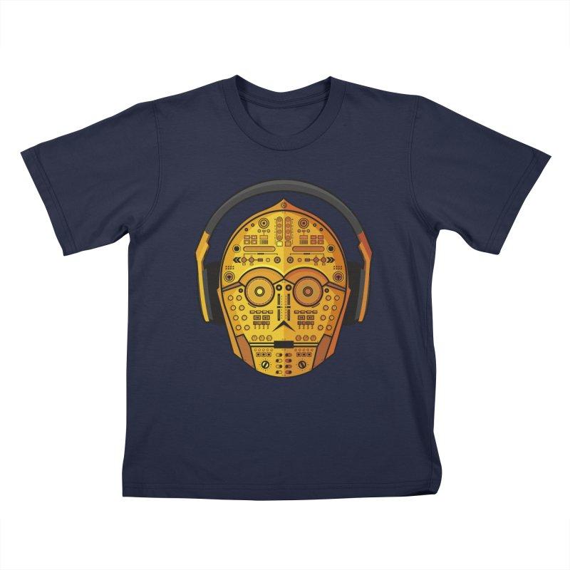DJ-3PO Kids T-Shirt by Tony Bamber's Shop