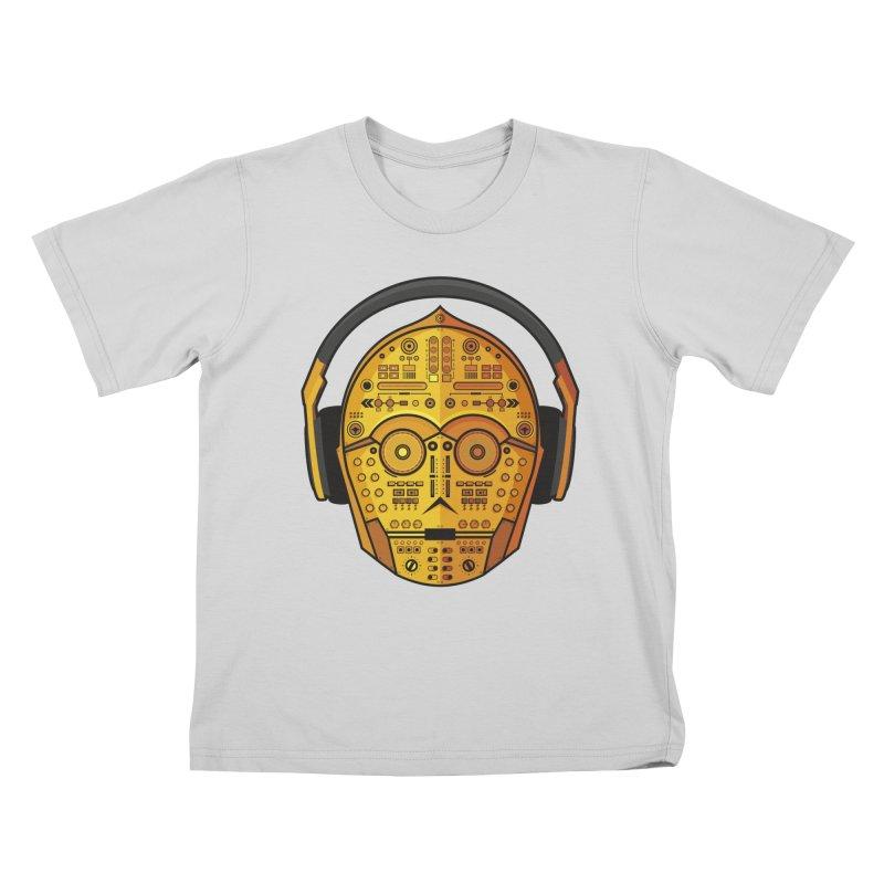 DJ-3PO Kids T-Shirt by Tony Bamber's Artist Shop