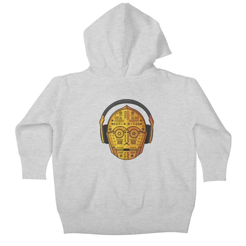 DJ-3PO Kids Baby Zip-Up Hoody by Tony Bamber's Artist Shop