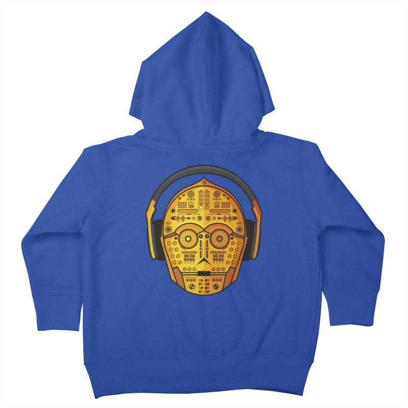 DJ-3PO Kids Toddler Zip-Up Hoody by Tony Bamber's Shop