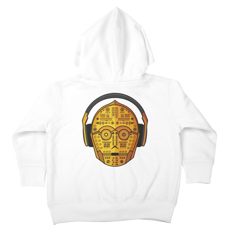 DJ-3PO Kids Toddler Zip-Up Hoody by Tony Bamber's Artist Shop