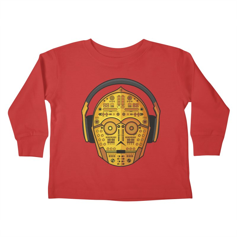 DJ-3PO Kids Toddler Longsleeve T-Shirt by Tony Bamber's Artist Shop