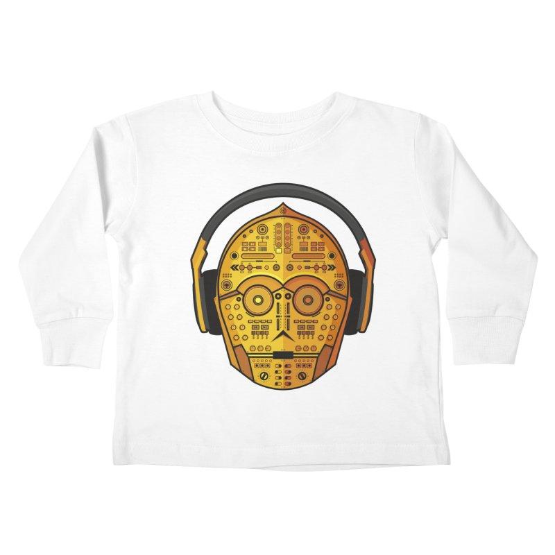 DJ-3PO Kids Toddler Longsleeve T-Shirt by Tony Bamber's Artist Shop